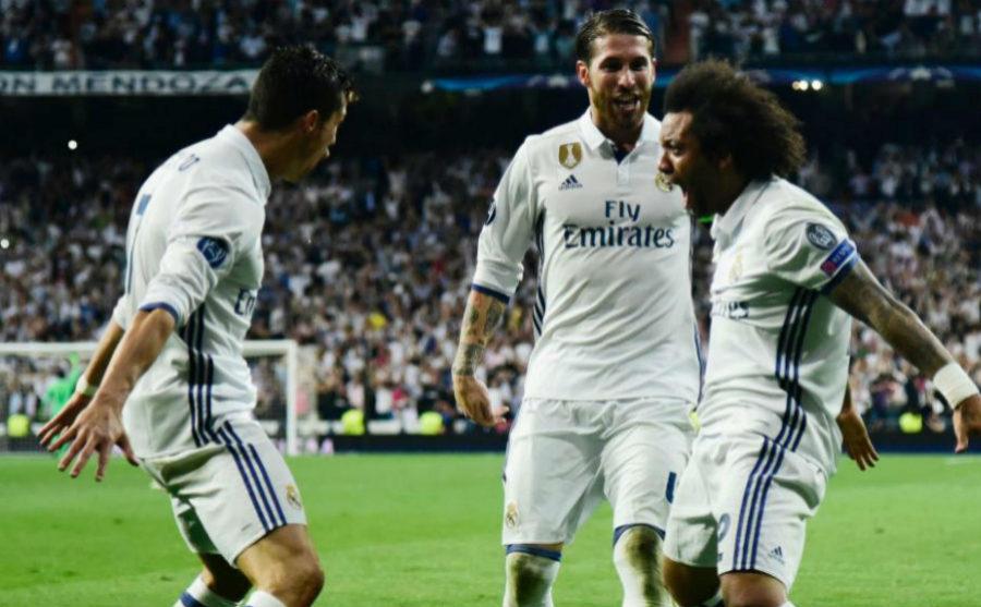 Marcelo, Ramos y Cristiano eufóricos