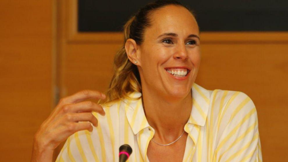 Amaya Valdemoro, durante una conferencia.