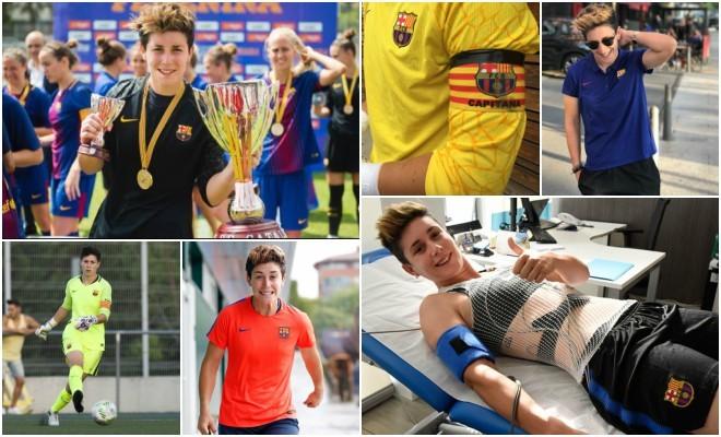 Laura Ràfols en diferentes situaciones con el Barcelona.