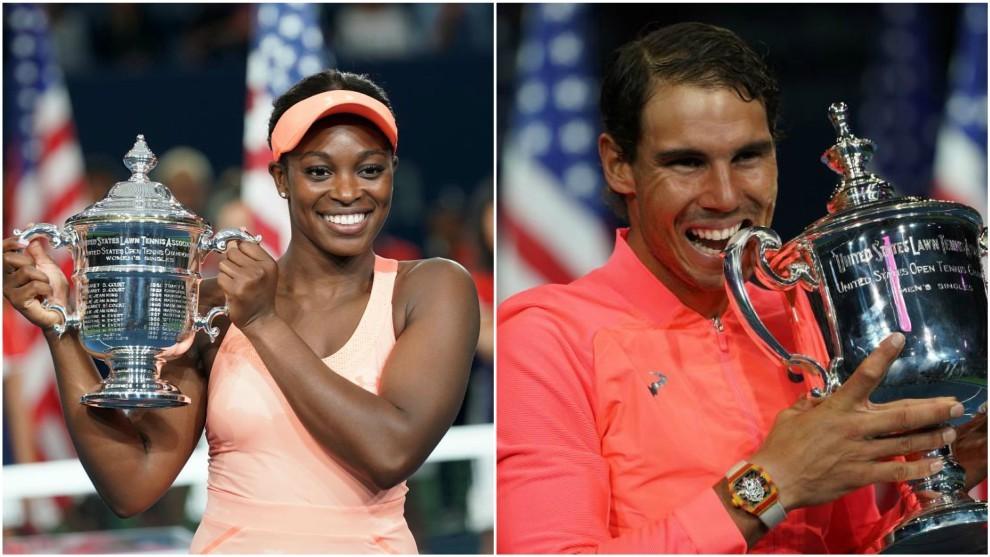 Sloane Stephens y Rafa Nadal, ganadores del US Open.