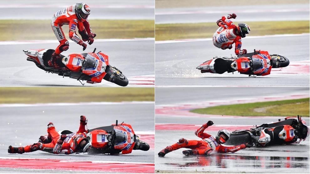 La secuencia de la caída de Lorenzo en Misano