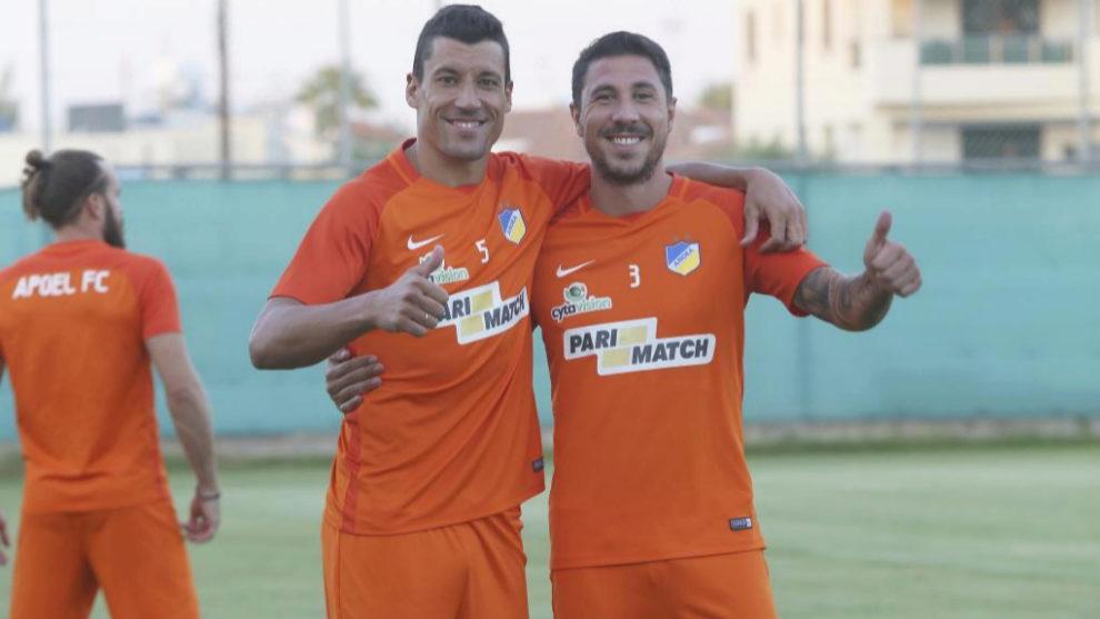 Jesús Rueda y Roberto Lago, los dos españoles jugadores en el APOEL...