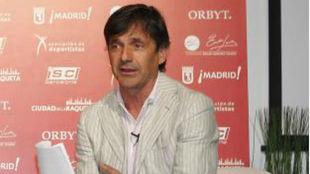 Emilio Sánchez Vicario, durante una rueda de prensa