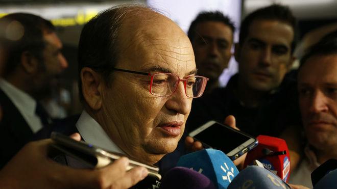 José Castro atiende a los medios en San Pablo, este martes.