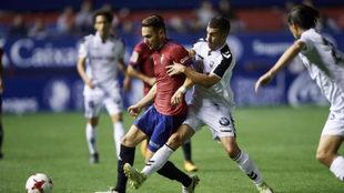 David Rodríguez, contra el Albacete en Copa