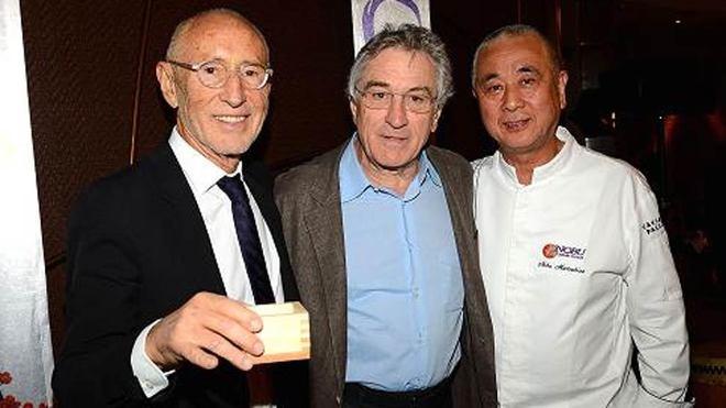 Meir Teper, Robert de Niro y Nobu Matsuhisa, los tres socios de la...