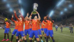 La selección española de FIFA para PC levanta la Copa del Mundo