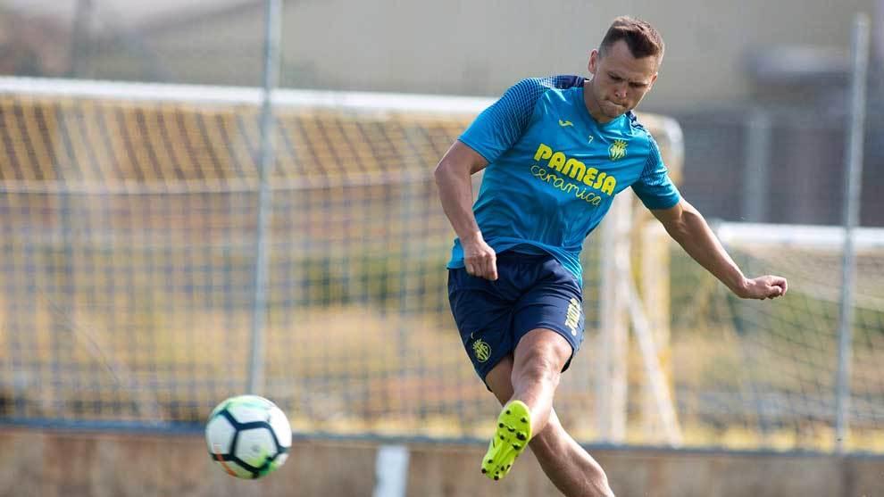 Cheryshev entrenando con el Villarreal.