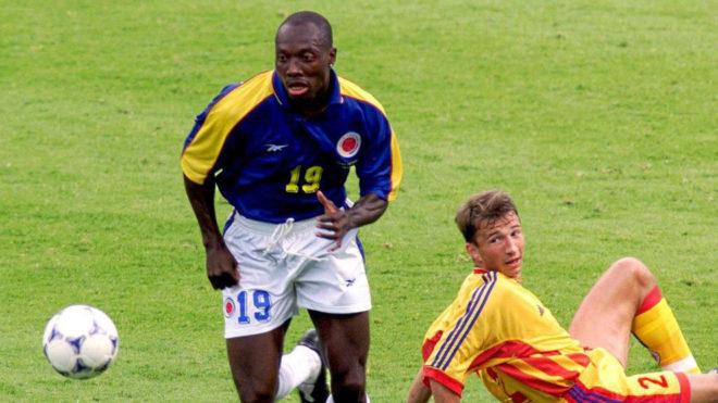 Freddy Rincón, con la selección de Colombia.