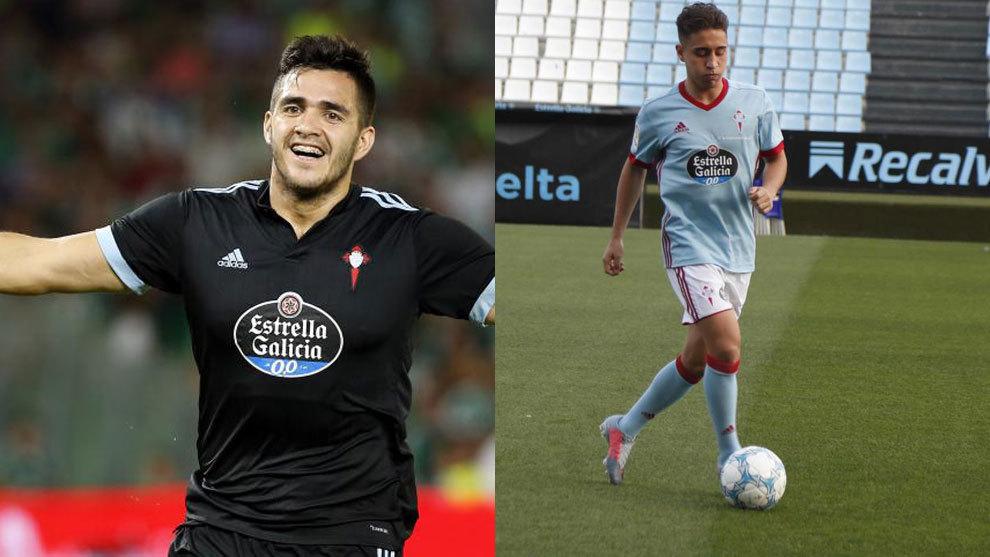 Maxi Gómez y Emre Mor