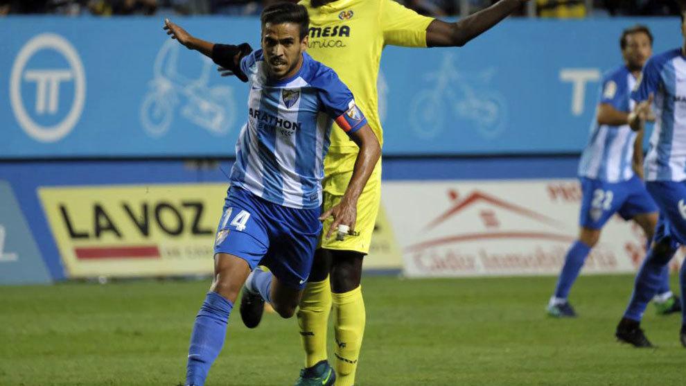 Recio, durante el partido contra el Villarreal