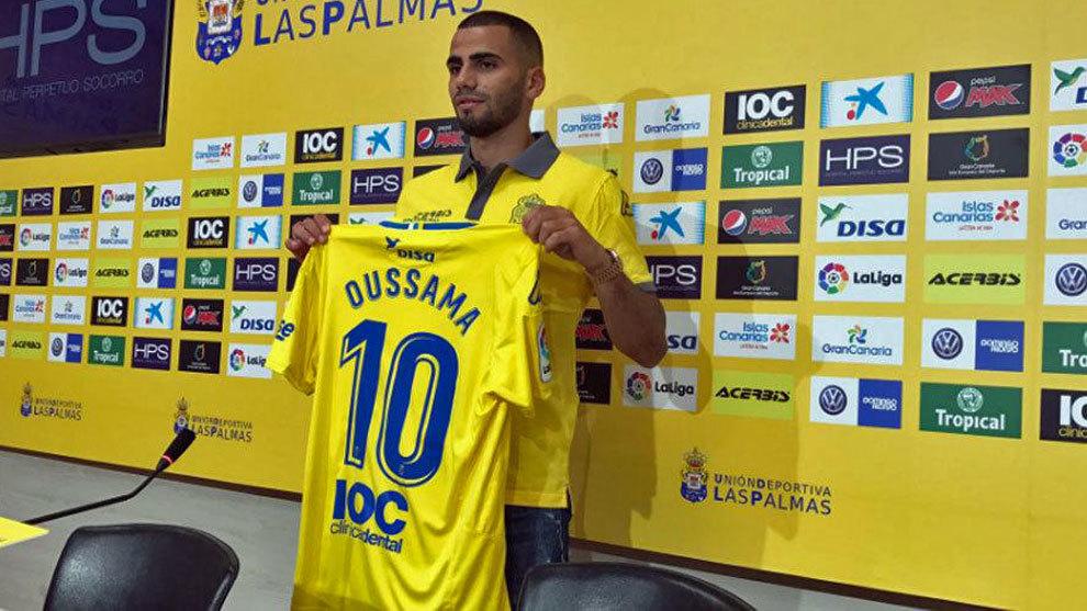 Tannane, en su presentación como jugador de Las Palmas