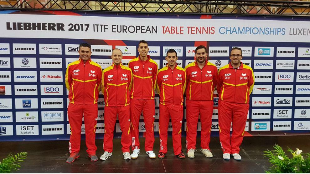 Equipo masculino en el Campeonato de Europa de Luxemburgo.