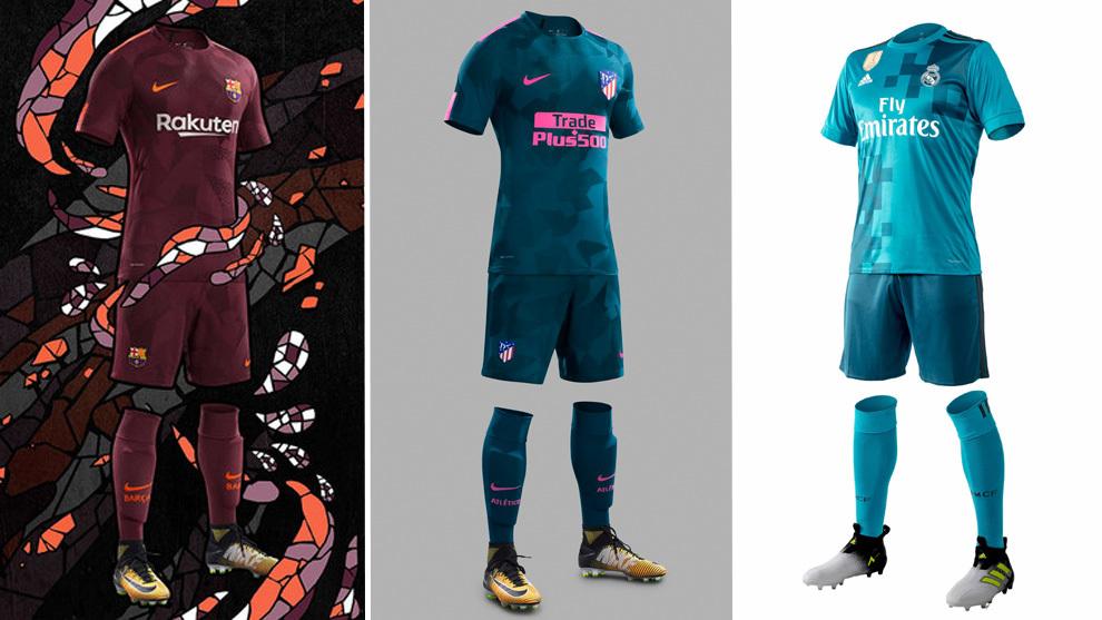 Las terceras equipaciones de los equipos de LaLiga Santander
