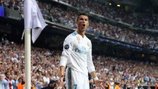 Cristiano celebra el 1-0