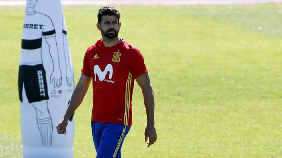 Diego Costa, con la selección.