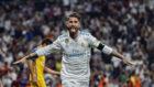 Sergio ramos celebra su gol frente al APOEL.