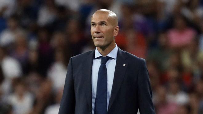 Zidane, durante el partido contra el APOEL