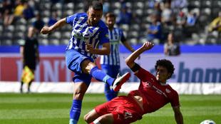 Ibisevic durante un partido con Hertha esta temporada