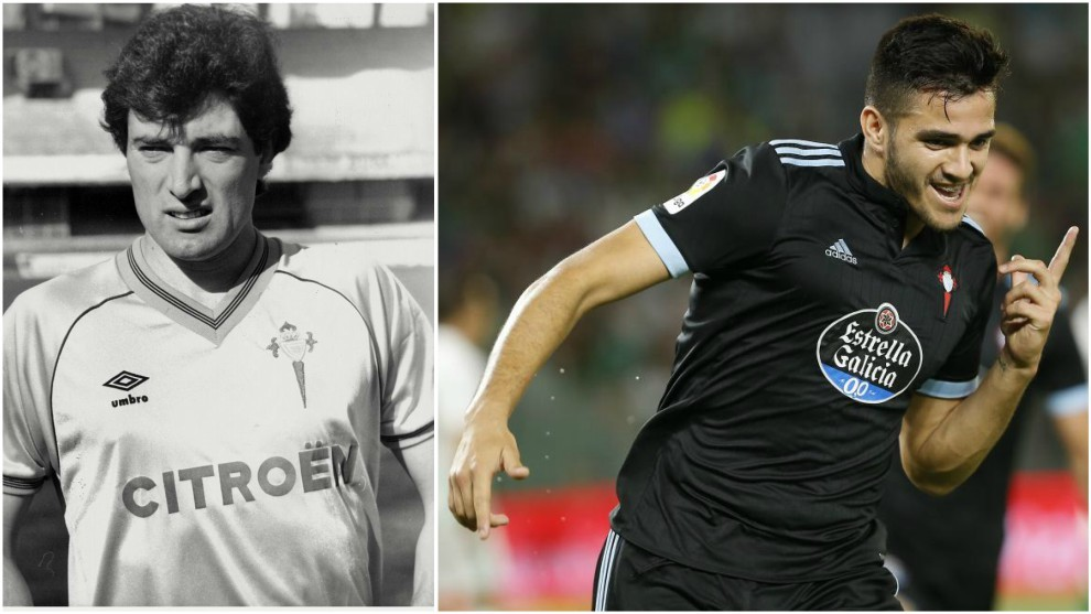 Gustavo Loureiro (izquierda) en su etapa como jugador del Celta. En la...