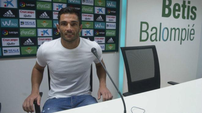 Antonio Adán, antes de la rueda de prensa de este jueves.