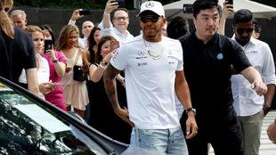 Lewis Hamilton, en Singapur