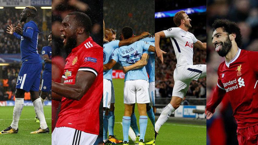 Resultado de imagen de equipos premier league champions
