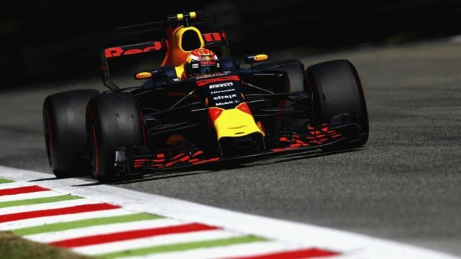 Verstappen, con el Red Bull.