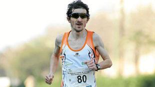 Asier Cuevas, en una carrera.