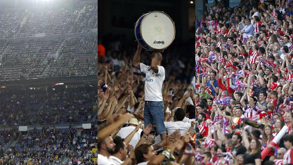 Las aficiones del Barça, Real Madrid y Atlético