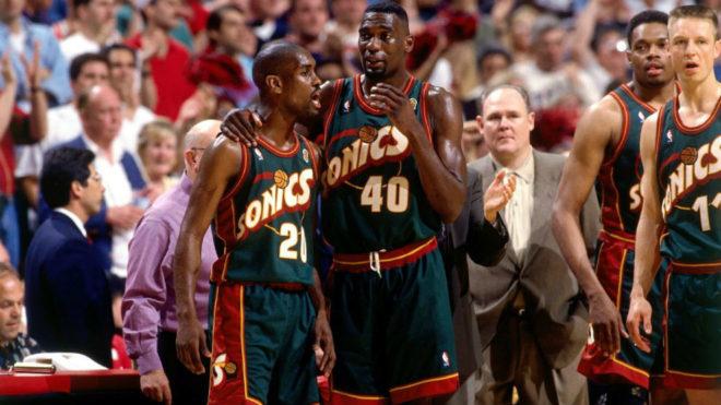 Gary Payton y Shawn Kemp, dos de los mejores jugadores de la historia...