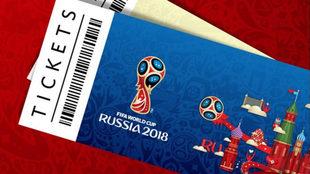 El diseño de las entradas al Mundial de Rusia 2018