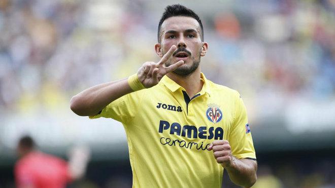 Sansone celebra el gol que ha marcado ante el Astana.