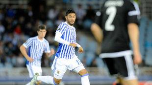 Carlos Vela, en un momento del partido