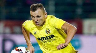 Cheryshev durante un partido con el Villarreal