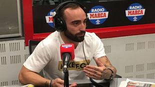 Ricardinho en la sede de Radio MARCA
