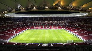 Panorámica del interior del Wanda Metropolitano.