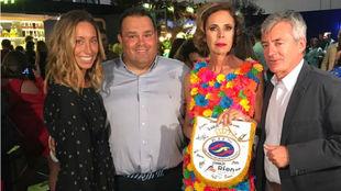Ágatha Ruiz de la Prada, el presidente de la RFEN, Fernando Carpena,...