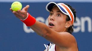 Garbi�e Muguruza en el US Open