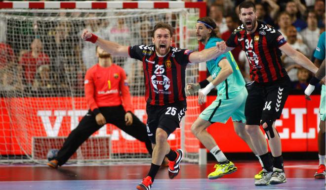 Cindric celebra el gol que dejó al Barcelona fuera de la final de la...