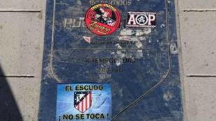 Imagen de la placa de Hugo S�nchez, en el suelo de la avenida del...