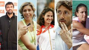 Bruguera, Martínez, Ruano, Ferrero y Parra.