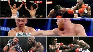 Imágenes del combate entre Canelo Vs GGG