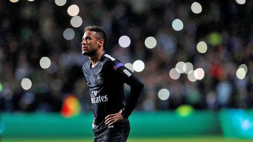 Neymar, en el partido contra el Celtic