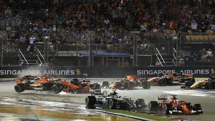Alonso, en la salida.