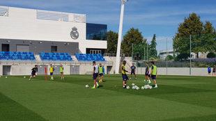 El Málaga se entrenó en Valdebebas.