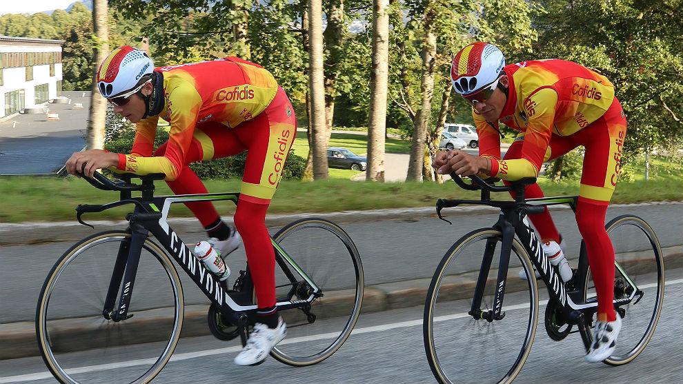Sergio Samitier y Jaime Castrillo probaron el circuito de Bergen.