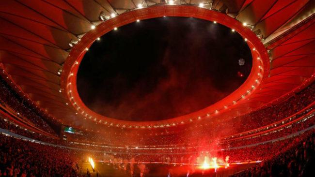 El Wanda Metropolitano despu�s del partido ante el M�laga