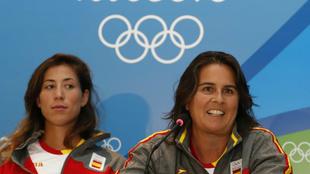 Garbiñe Muguruza y Conchita Martínez durante los Juegos Olímpicos...