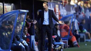 Ramis, durante el partido en Pamplona el pasado sábado.